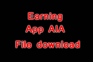 Earning App aia file download (Thunkable, Appybuilder, Makeroid)
