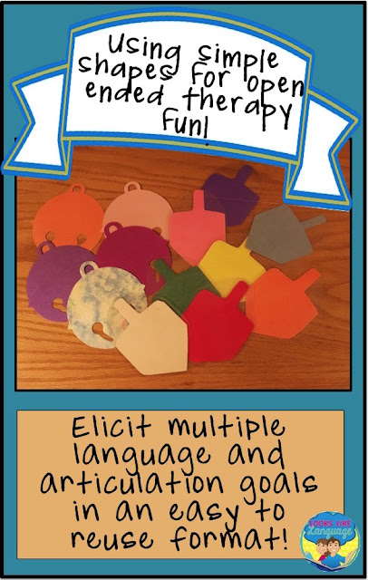 Fun and easy open ended, re-usable therapy ideas! Looks-Like-Language