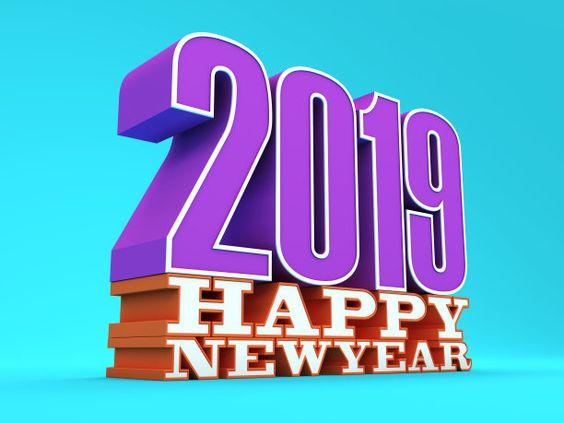 happy new year 2019 3d wallpaper