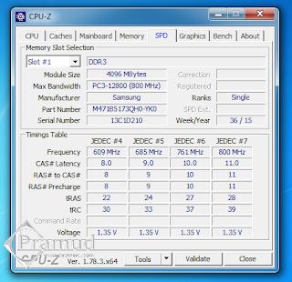 cpu-z ddr3l pc3l 12800 4gb samsung di asus a43sj