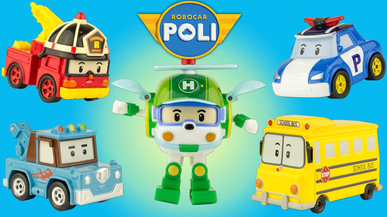 Super h ros et compagnie 5 personnages robocar poli - Robocar poli pompier ...
