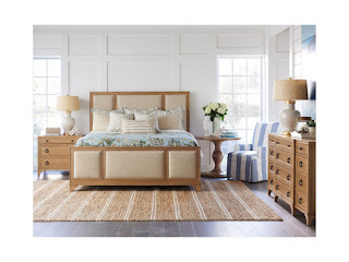 bedroom set creates cohesive look