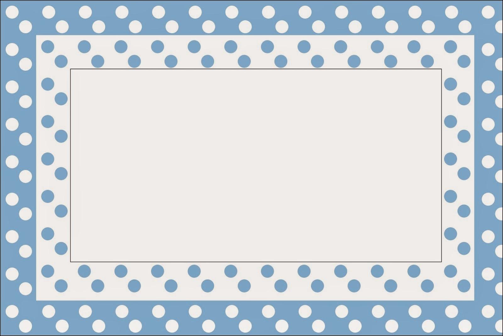 Celeste con Lunares Blancos: Invitaciones de Primera Comunión para ...