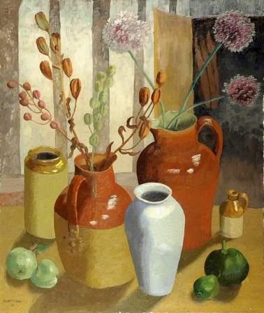 Cedric Morris - Margaret's Pots - 1965