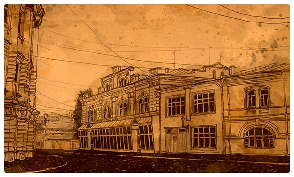 12-Evgeniy-Rodionov-Евгений-Родионов-Architectural-Drawings-with-a-Striking-Background-www-designstack-co