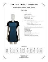 Star Trek TNG Women's Skant Sewing Pattern
