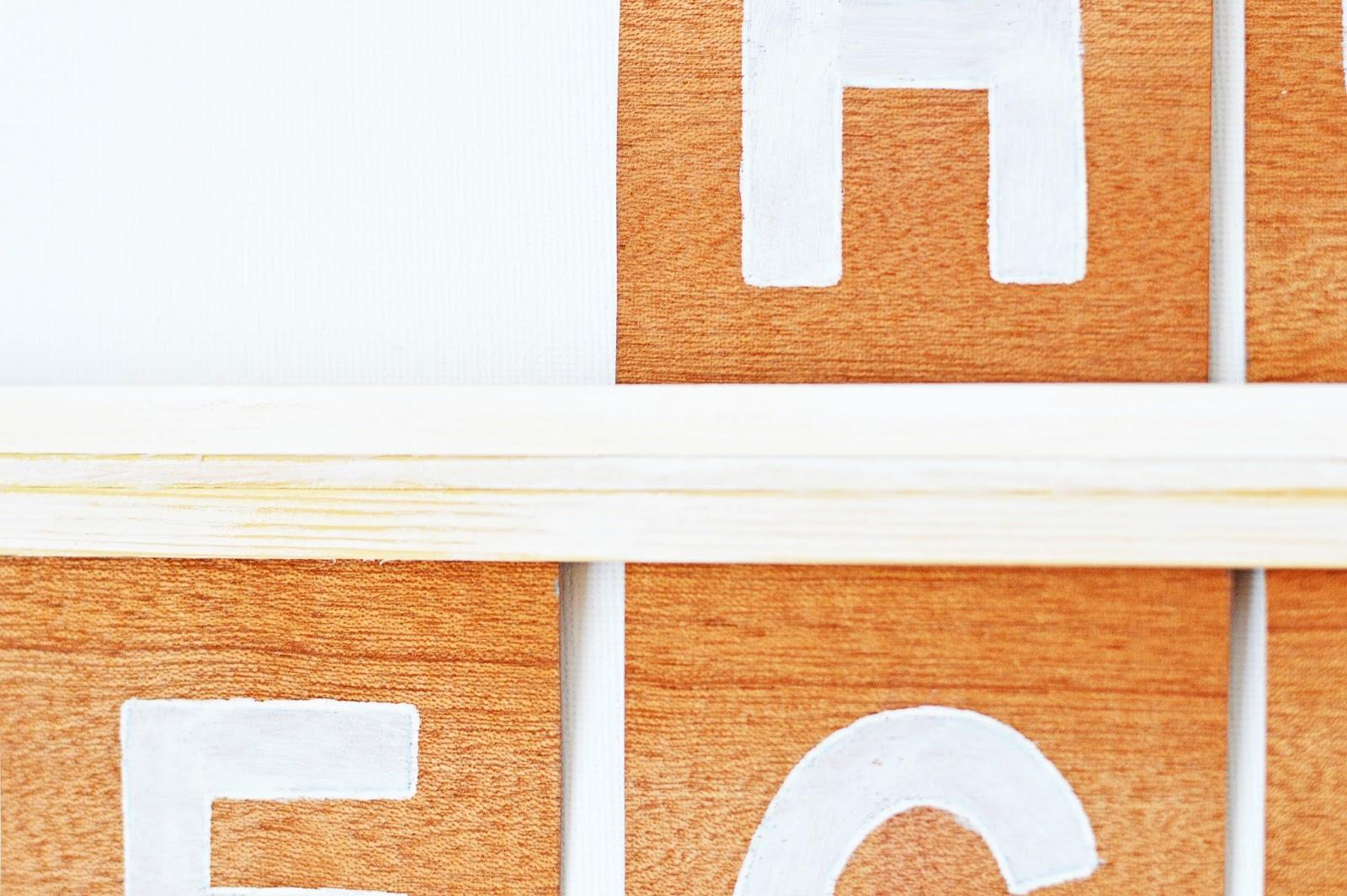 DIY Letter Board, Motte's Blog