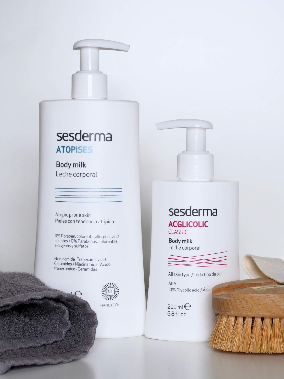 Sesderma Atopises and Acglicolic body milks