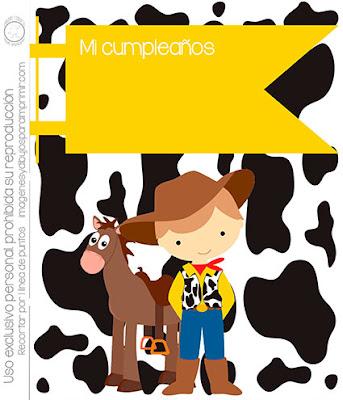 Invitación para imprimir toy story o fiesta vaqueros