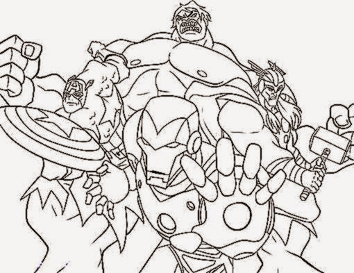 coloring pages for boys avengers  Coloring Page