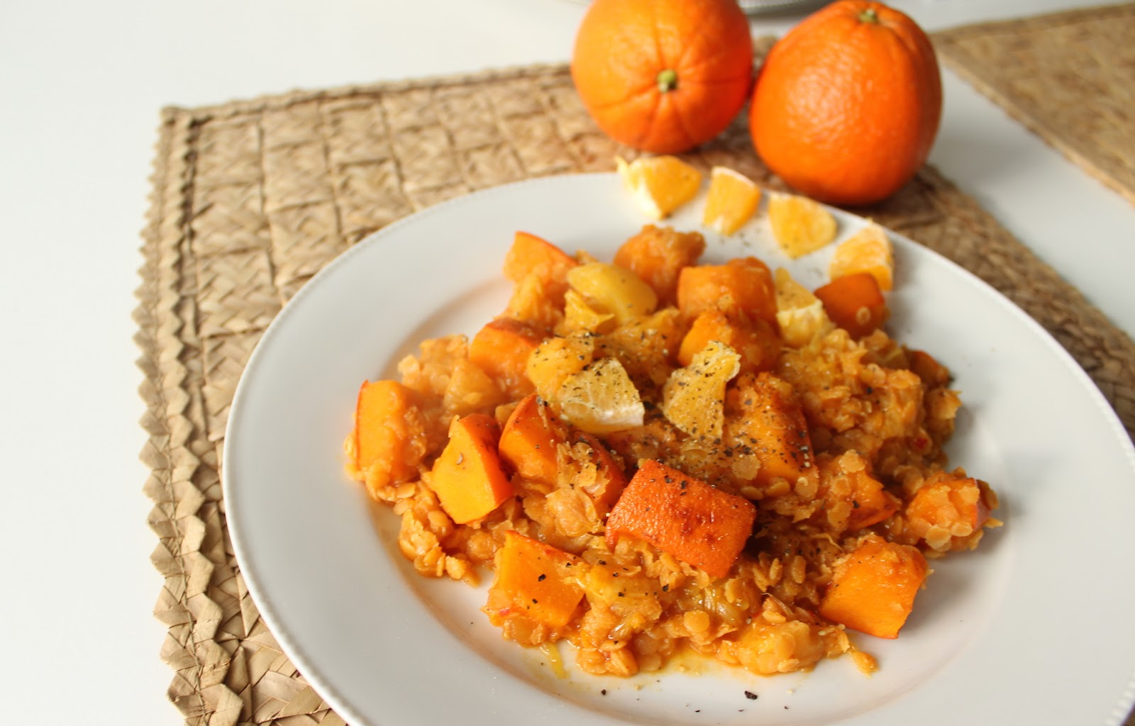 TheBlondeLion Food Red Lentil vegan sweet sour oriental recipe oranges pumpkin