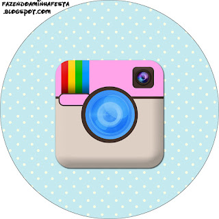 Toppers o Etiquetas de Fiesta de Instagram para imprimir gratis.