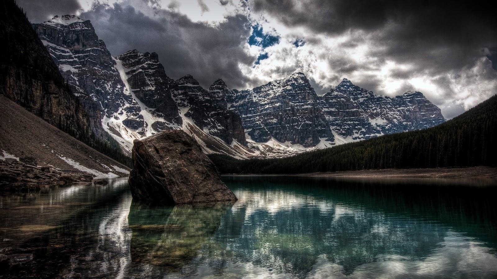 Lake, Mountains, Nature, Scenery, 4K, 3840x2160, #11 Wallpaper