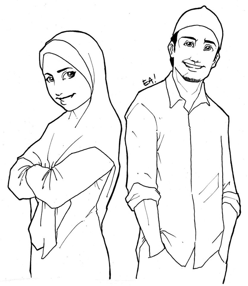 man and woman coloring pages-#18