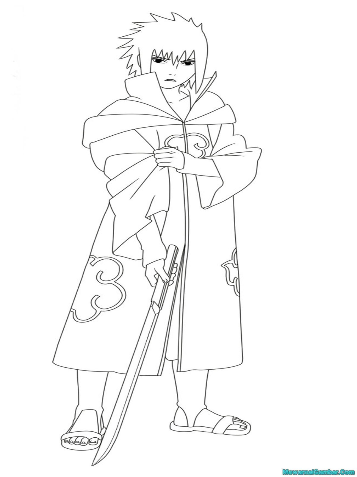 Mewarnai Gambar Sasuke Mewarnai Gambar