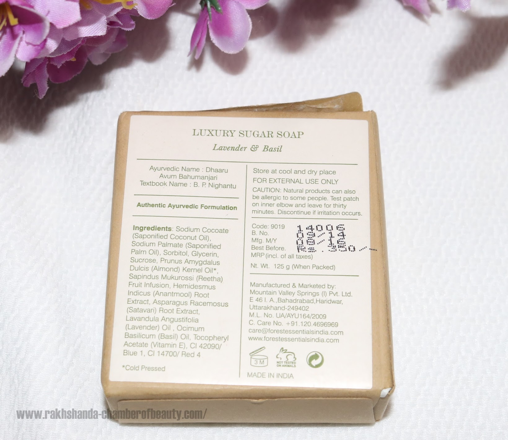 Forest Essentials Luxury Sugar Soap Lavender & Basil review