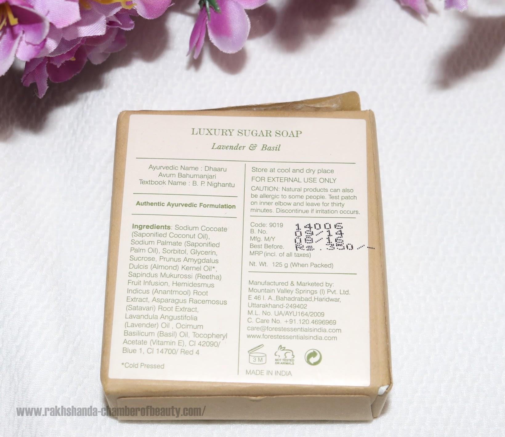 Forest Essentials Luxury Sugar Soap Lavender & Basil review