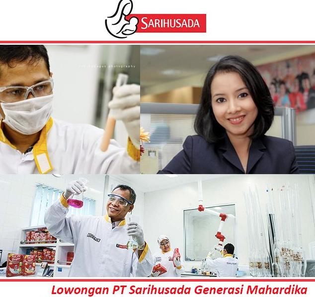 Lowongan Kerja PT. Sari Husada Generasi Mahardika, Jobs: Operator Produksi, Maintenance Technician, Operator Produksi Engineer.