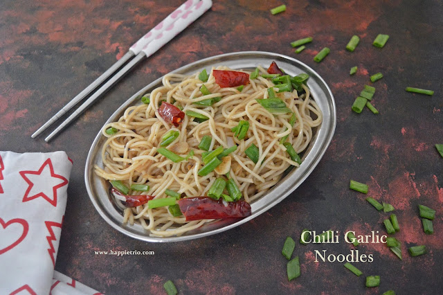 Chilli Garlic Noodles Recipe | Chilli Garlic Flavored Hakka Noodles