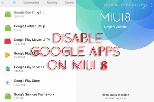 Disable Aplikasi Google dan Bloatware