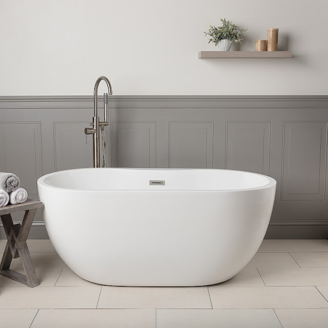 Hudson Acrylic Double Ended Freestanding Tub