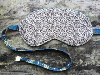 reverse of eye mask liberty and anna maria horner fabric