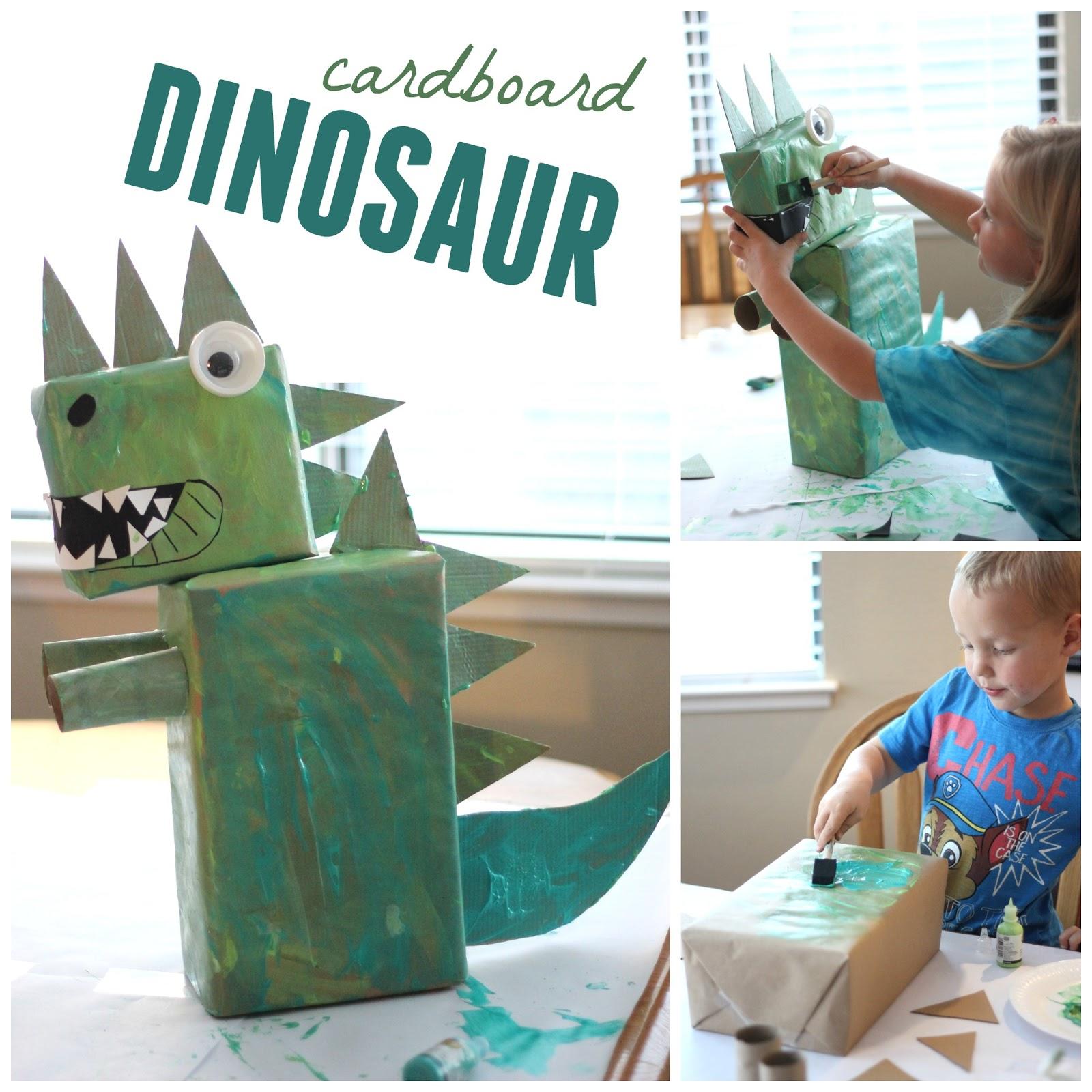 Toddler Approved!: Collaborative Cardboard Dinosaur Art