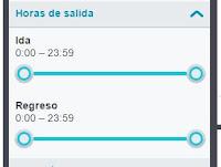 filtro de horarios en Skyscanner