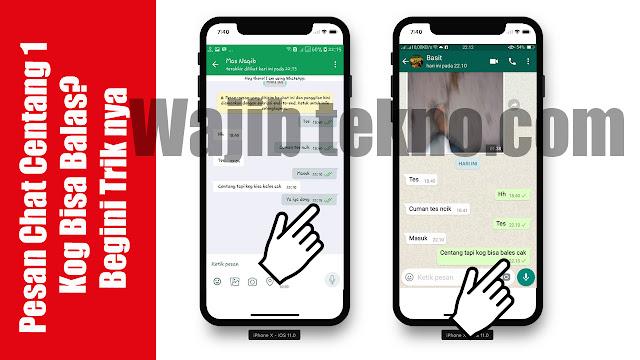 Trik Cara Membuat Pesan Chat Whatsapp Centang 1