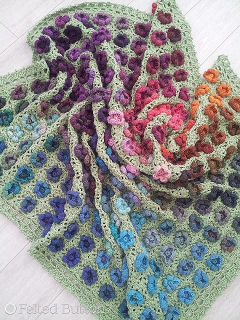 Monet's Garden Throw Crochet Pattern by Susan Carlson of Felted Button