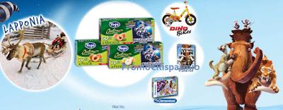 Logo Vinci Puzzle, DVD, biciclette Era Glaciale e viaggio in Lapponia