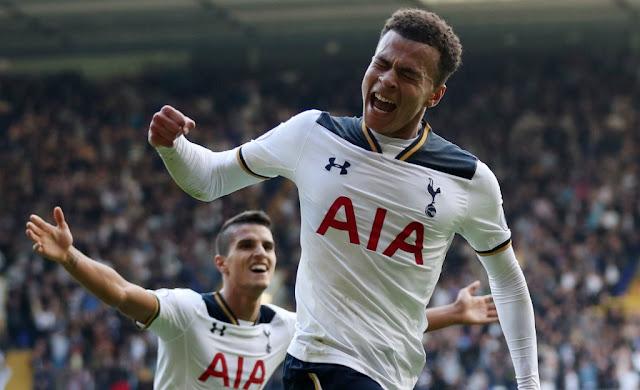 Dele Alli, buteur dans le choc entre Tottenham et Manchester City