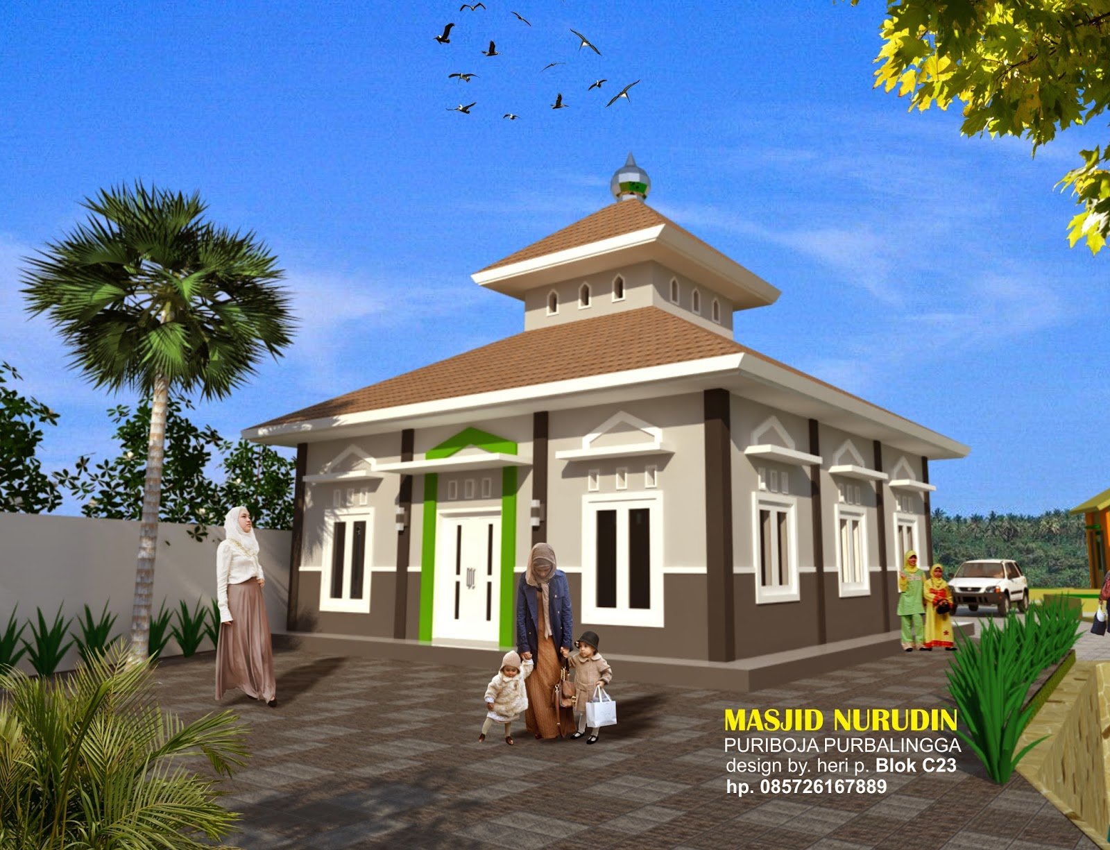 Desain Masjid Di Perum Puri Boja Purbalingga Jasa Arsitek Di