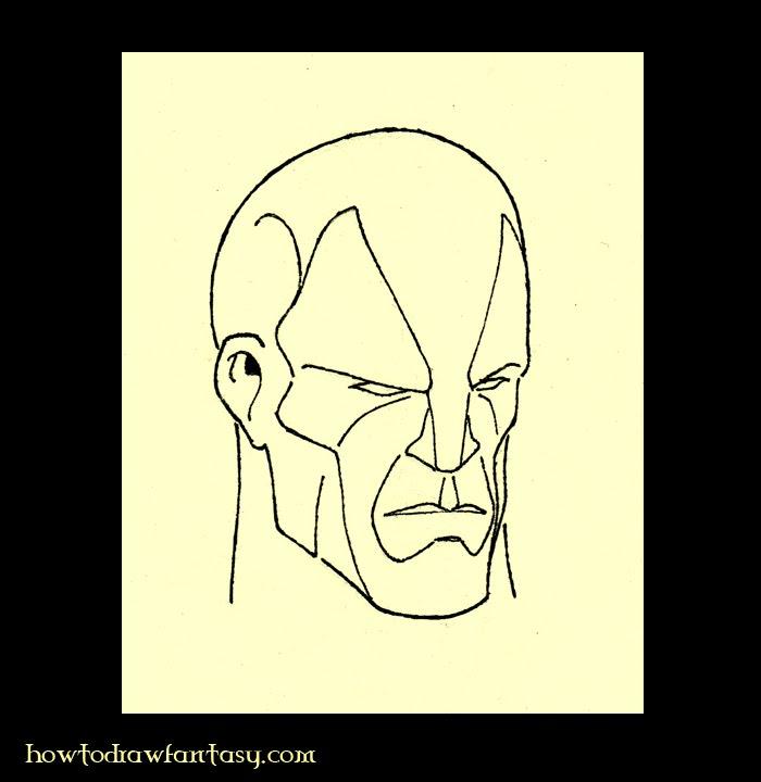 Como Desenhar Fantasia Como Desenhar Um Rosto Masculino