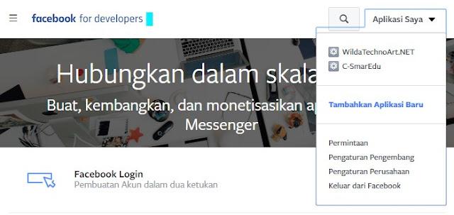 Menambahkan Aplikasi Baru di Facebook Developer