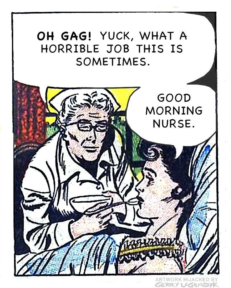 gerry Lagendyk vintage nurse spoonfeed