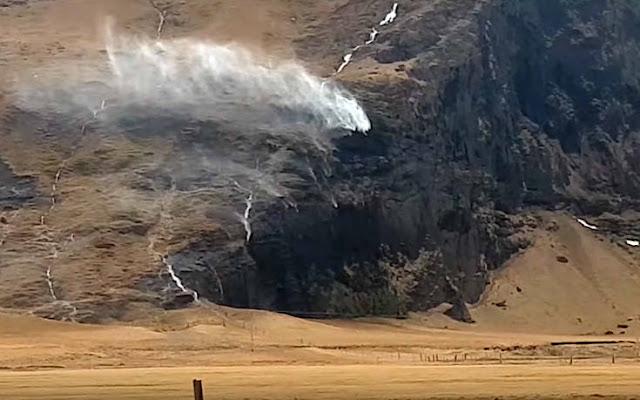Σφοδροί άνεμοι γύρισαν καταρράκτες προς τα πίσω (βίντεο)
