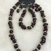 Jual Set Perhiasan Batu Garnet