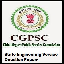 CGPSC State Engineering Service Question Papers PDF Syllabus