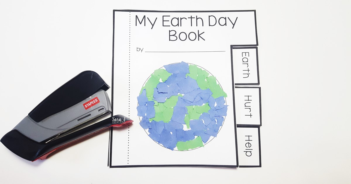 Free Earth Day mini book! The perfect writing activity for kindergarten and older.