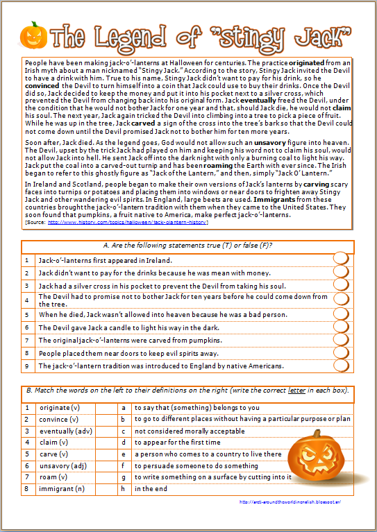 Around the World in English: Halloween - History of the Jack O ...