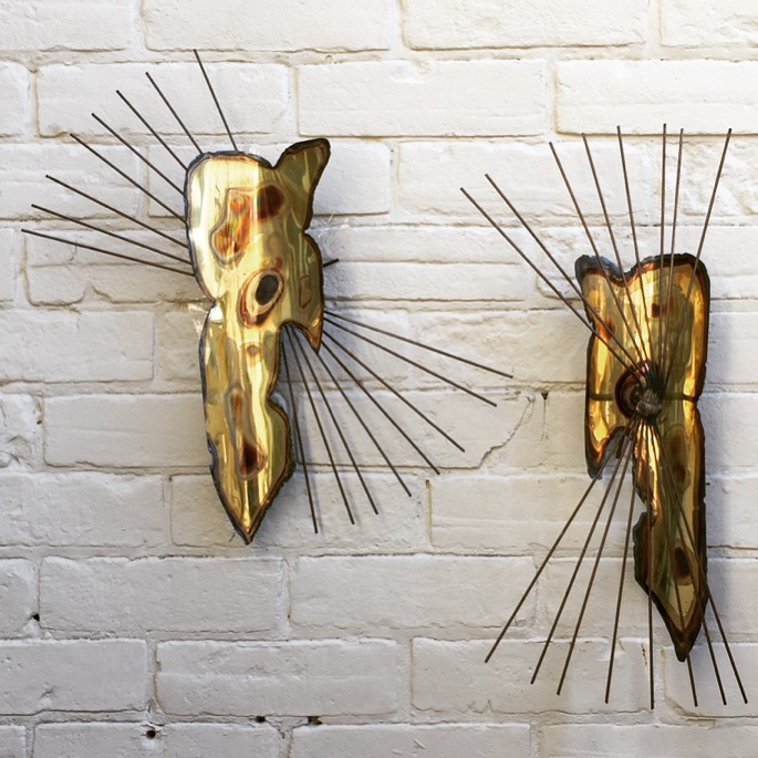 Era Antiques: BRUTALIST WALL ART: Grouping of two 1960s-70s ...