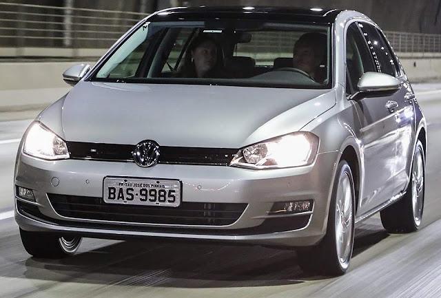 VW Golf lidera ranking de hatchs médios mais vendidos