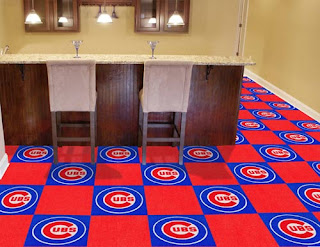 Greatmats sports team carpet tile baseball Chicago cubs