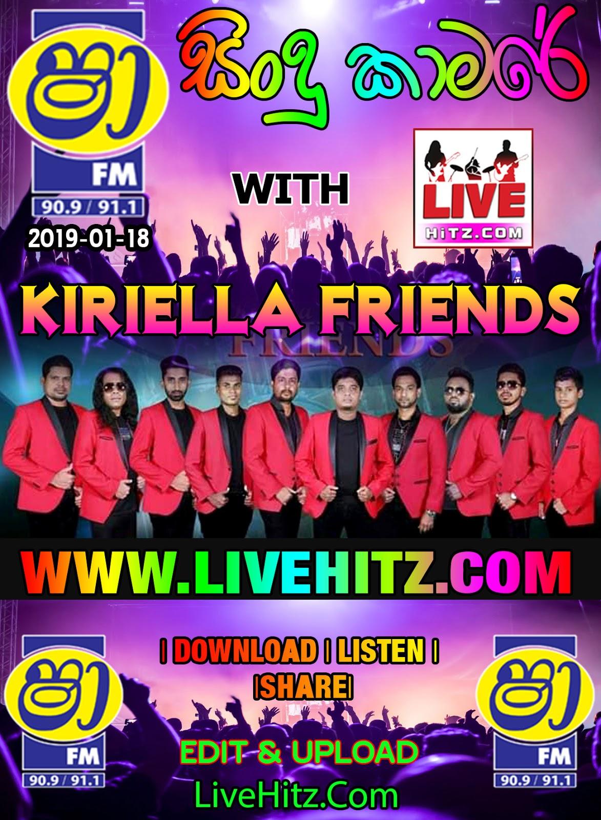 SHAA FM SINDU KAMARE WITH KIRIELLA FRIENDS 2019-01-18 ~ WwW LiveHitZ NeT