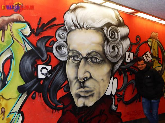 Graffiti Mozart Salzburgo