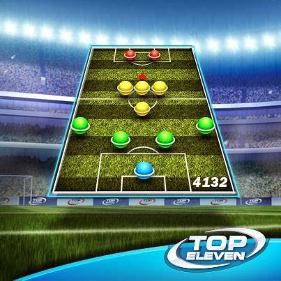 Taktik dan Formasi 4-1-3-2 Top Eleven