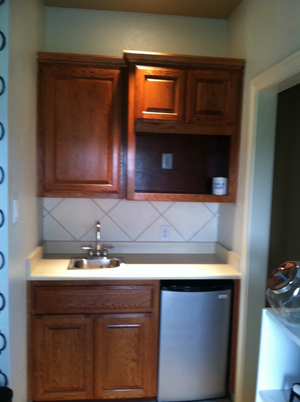 Cammie Malaga Interiors Wet Bar Before And After