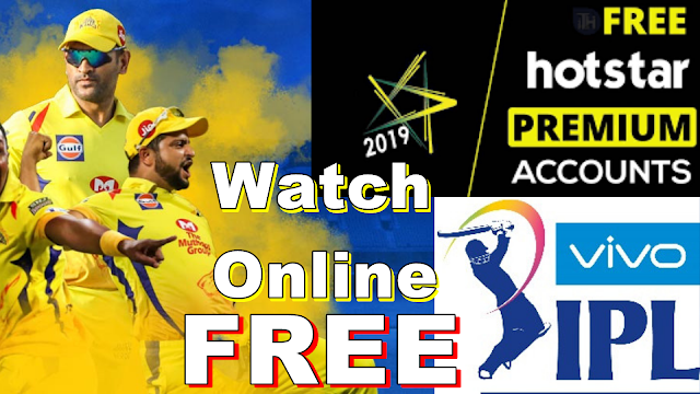 Watch IPL Online Hotstar Premium Account Username and Password 2019 FREE