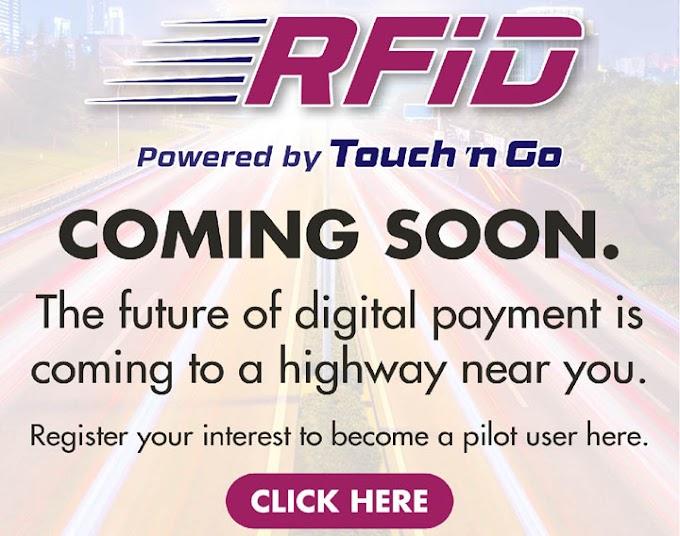 RFID Touch 'n Go - Daftar Sebagai Pengguna Terawal